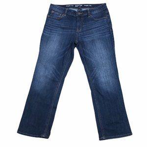Apt 9 Modern Straight Crop Womens Denim Jeans Sz 8
